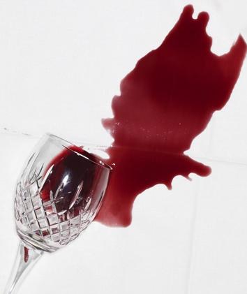 enlever tache de vin rouge