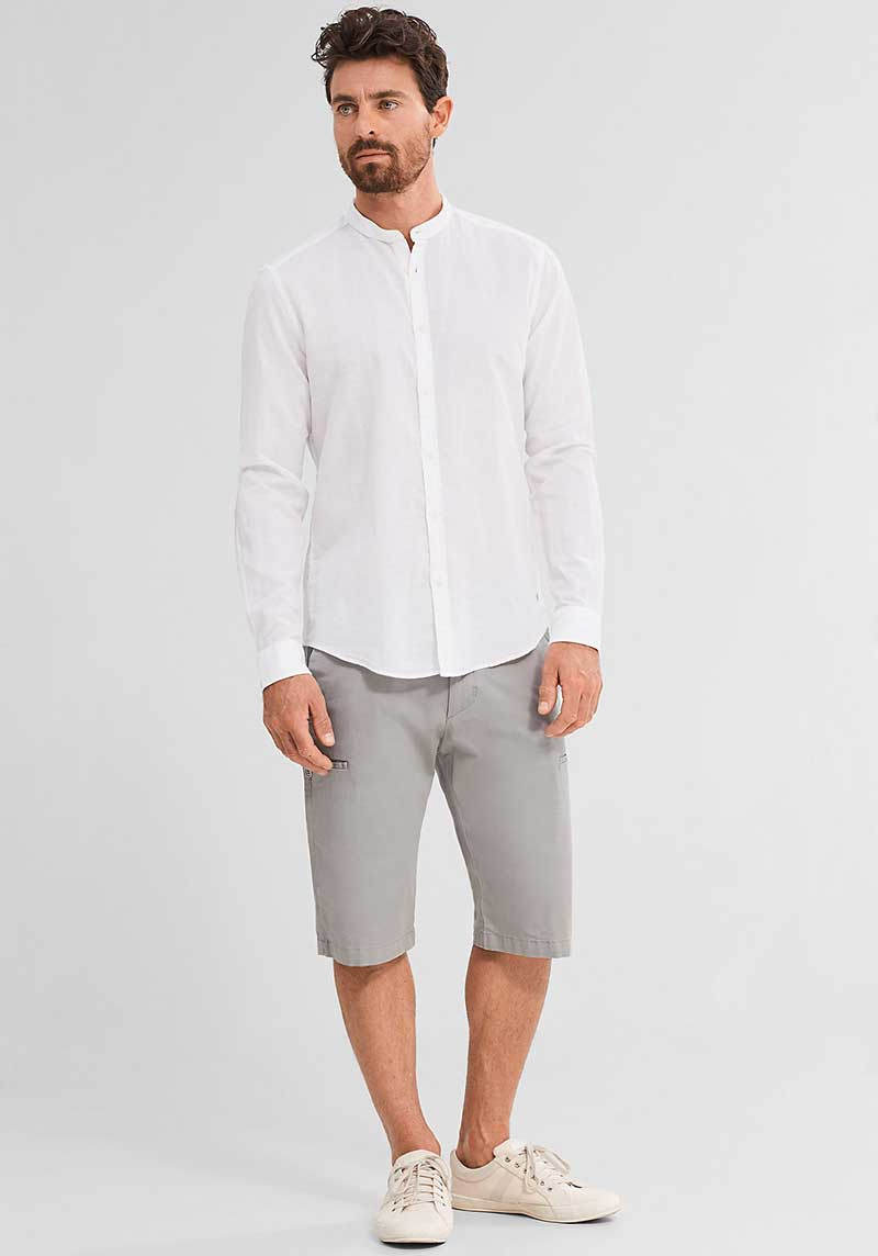 chemise-col-mao-short-lin