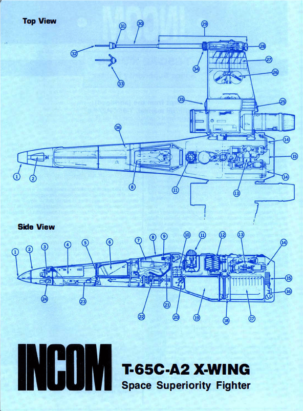 X-Wing T-65C-A2 - Plans