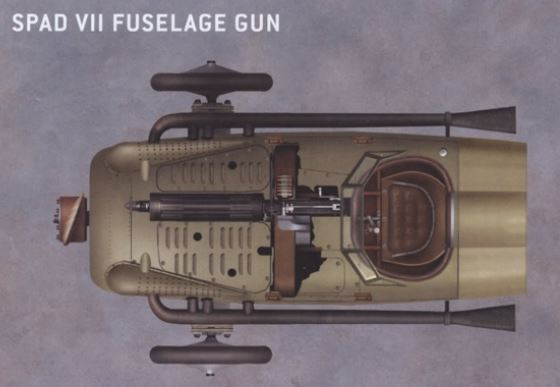 Mitrailleuse de fuselage Vickers