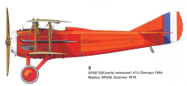 Spad XIII de Georges Madon
