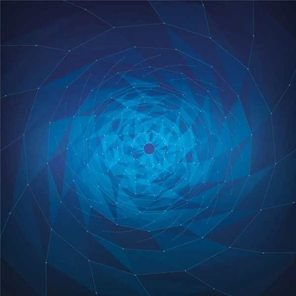 Blue Geometrix Vortex
