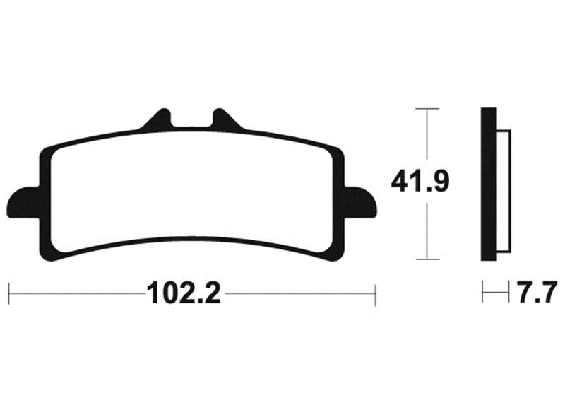 PLAQUETTES DE FREIN Avant SUZUKI GSX-R 600 (2011 à 2015 )
