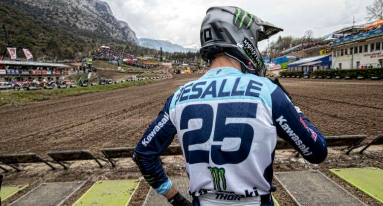 Clement Desalle in action at 2019 MXGP Trentino