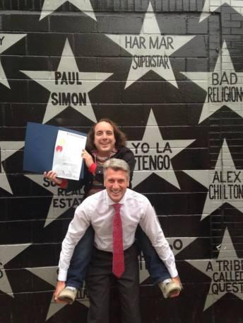 Har Mar Superstar with Mayor R.T. Rybak - photo via Facebook