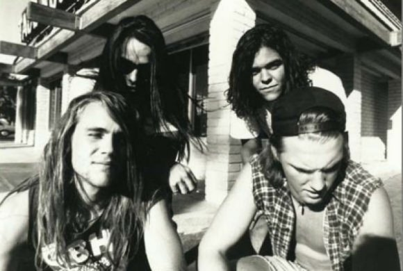 KYUSS [clockwise from left] - Oliveri, Garcia, Bjork, and Homme