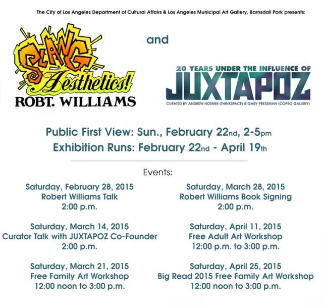 slang and jux events  flyer