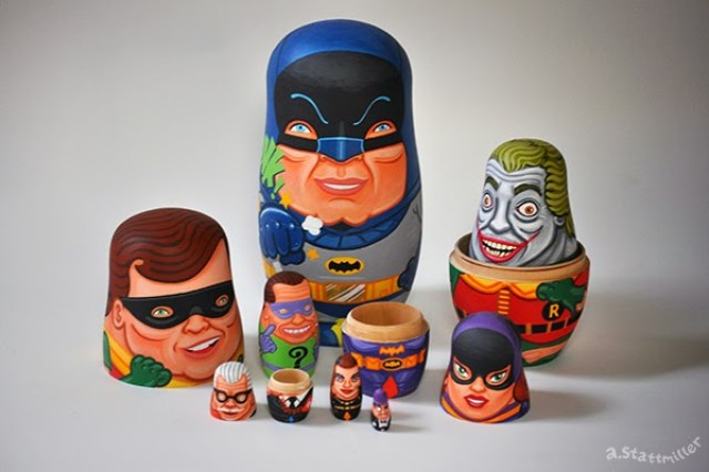 Andy Stattmiller Batman Nesting Dolls