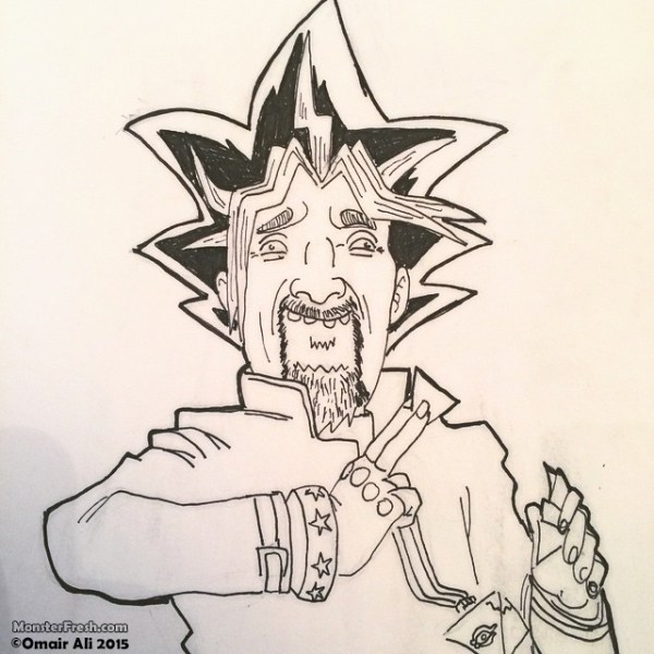 """You've activated my Snack Card, Kaiba!"" - Yu-Guy-Oh #guyfieri #yugioh #yugimutou #pigma #portrait #drawing #sourappledoritos #flavortown #tripleD #guysgrocerygames #taquitos"
