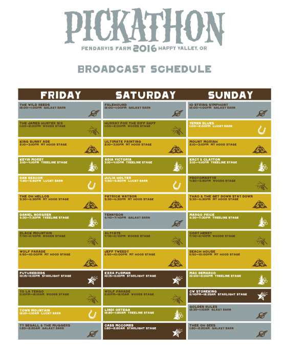 pickathon broadcast schedule