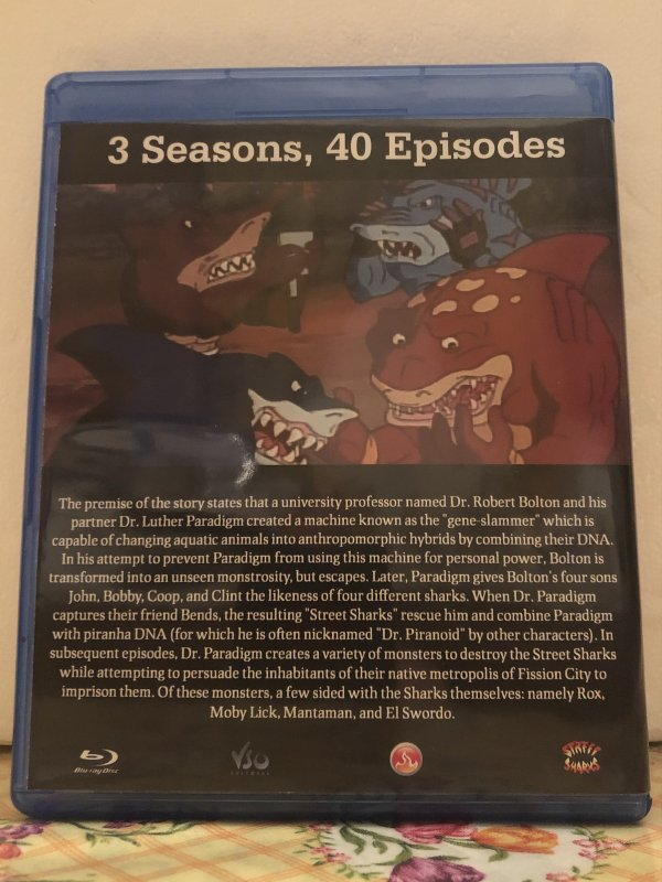 Street Sharks The Complete Series 3 Seasons with 40 Episodes on 3 Blu-ray Discs in 720p HD