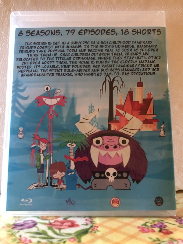 Fosters Home For Imaginary Friends The Complete Series 6 Seasons with 78 Episodes and 18 Shorts on 5 Blu-ray Discs in 720p HD