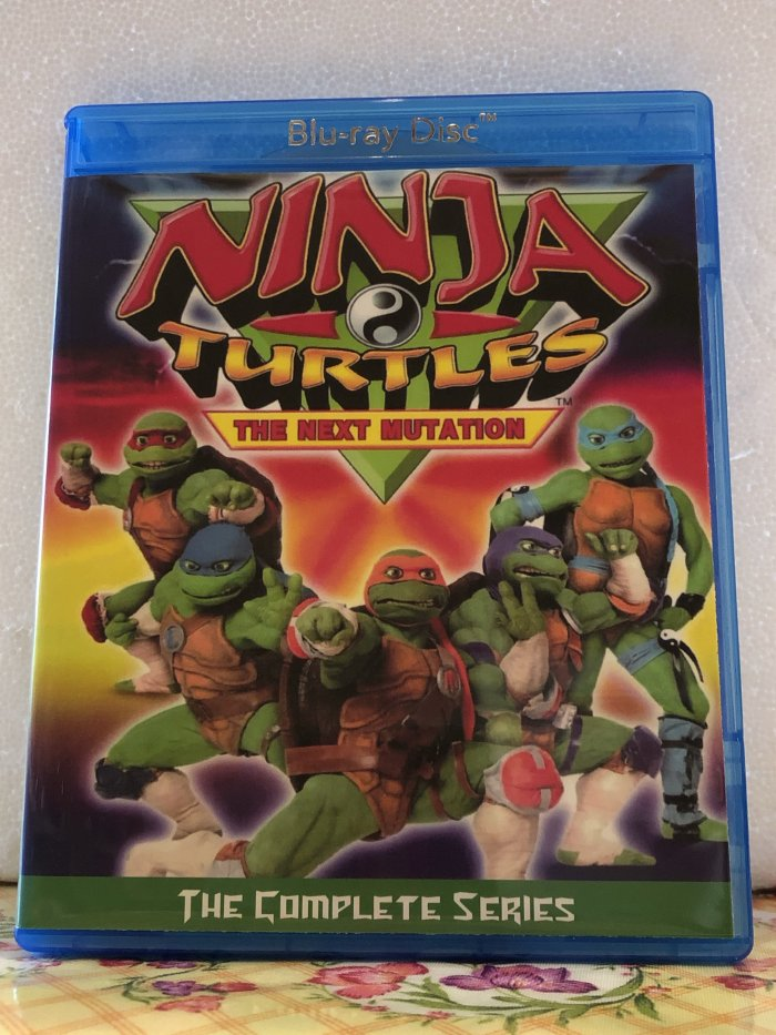 """Ninja Turtles The Next Mutation The Complete Series 26 Episode Set plus """"Power Ranger in Space Crossover"""" on 2 Blu-ray Discs in 720p HD"""