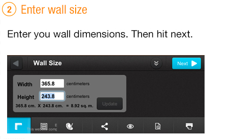enter wall size