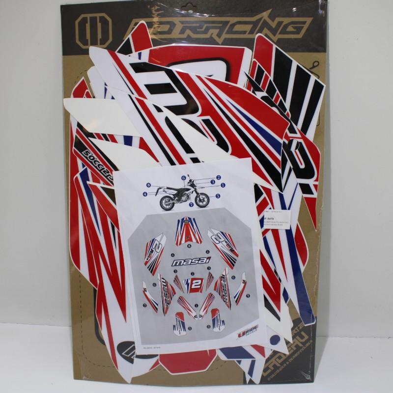 kit decoration moto masai punky red rider