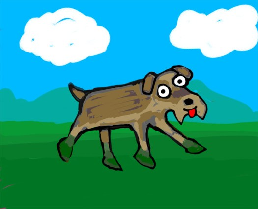 doggie in the park