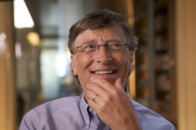 Bill Gates, the richest American and also the richest person in the world