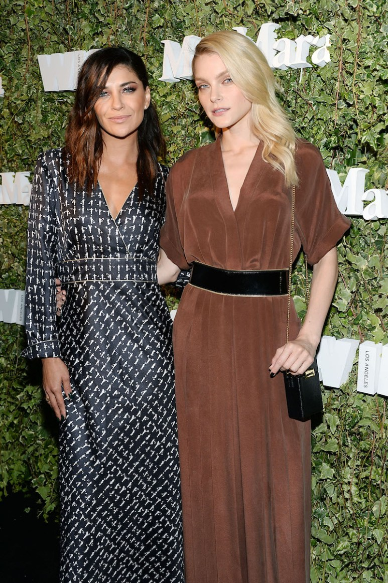LOS ANGELES, CA - JUNE 14: Actresses Jessica Szohr and Jessica Stam wearing Max Mara, attend Max Mara Celebrates Natalie Dormer - The 2016 Women In Film Max Mara Face Of The Future at Chateau Marmont on June 14, 2016 in Los Angeles, California. (Photo by Stefanie Keenan/Getty Images for Max Mara)