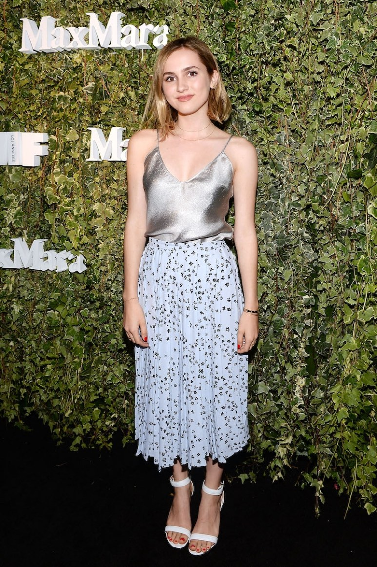LOS ANGELES, CA - JUNE 14: Actress Maude Apatow, wearing Max Mara, attends Max Mara Celebrates Natalie Dormer - The 2016 Women In Film Max Mara Face Of The Future at Chateau Marmont on June 14, 2016 in Los Angeles, California. (Photo by Stefanie Keenan/Getty Images for Max Mara)