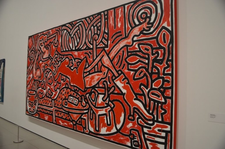 """Red Room"" by Keith Haring - Kieran MacIntyre - Monsters & Critics 2016 ©"