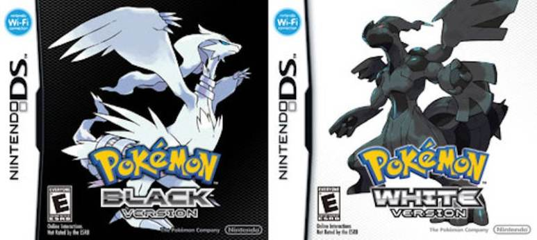 Pokemon Black and White boxes