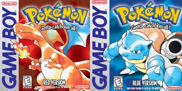 Pokemon Red and Blue boxes