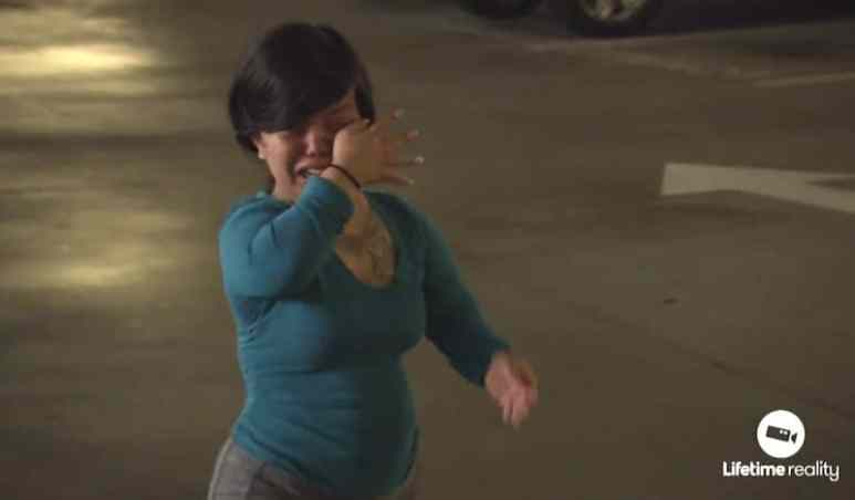Andrea weeps hysterically after Chris leaves on the Little Women: Atlanta finale