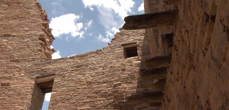 Chaco Canyon in New Mexico