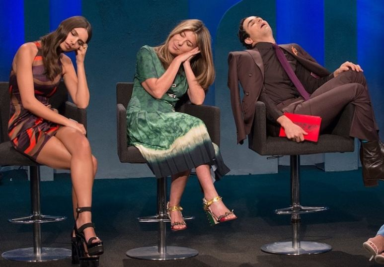 Some of the dresses are too much for Emily Ratajkowski and judges Nina Garcia and Zac Posen on this week's Project Runway