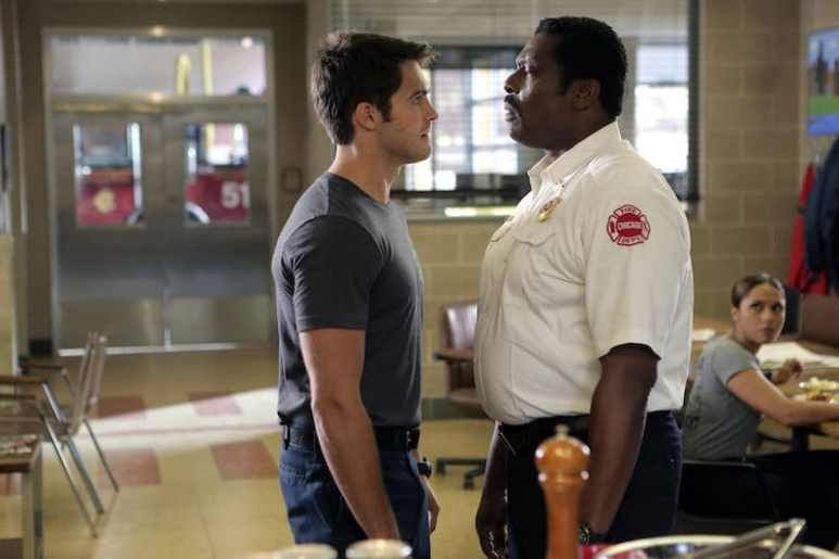 Jimmy Borrelli and Chief Boden on Season 5 premiere of Chicago Fire