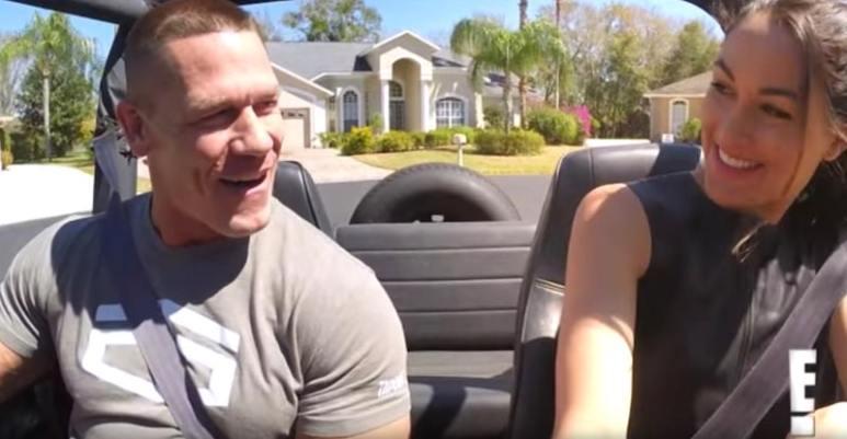 John Cena teaching Brie Bella to drive stickshift on Total Bellas