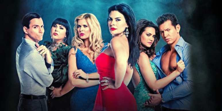 The stars in My Life is a Telenovela, including Maria Raquenel Portillo, center right, and Sissi Fleitas, center left