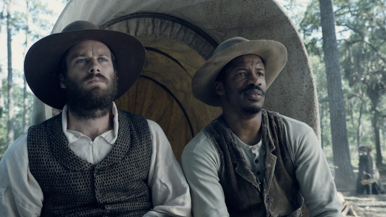 Armie Hammer as Samuel Turner and Parker as Nat Turner