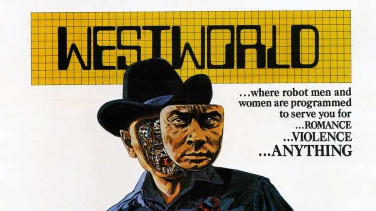 The poster from the original Westworld movie