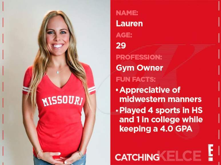 Lauren's profile from Catching Kelce on E!