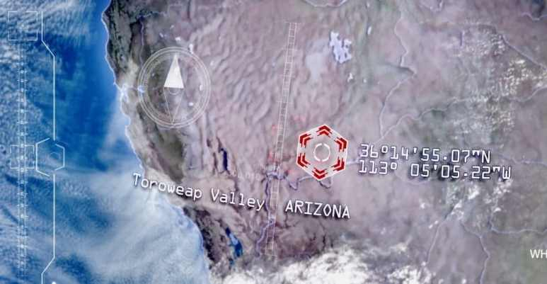 Satellite image of Arizona