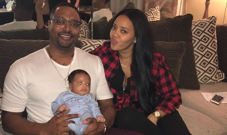 Angela Simmons with fiance Sutton Tennyson and son Sutton Joseph