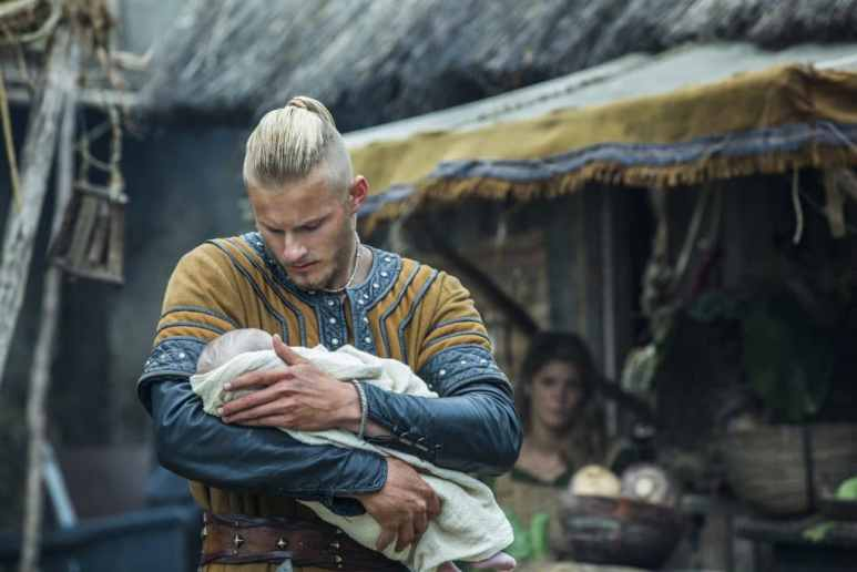 Ludwig with his baby on Vikings