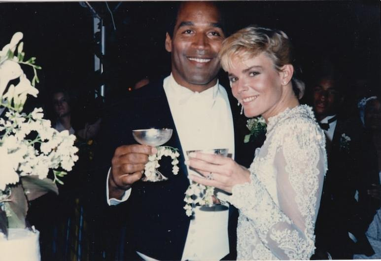 An old photo of O.J. Simpson with Nicole Brown Simpson