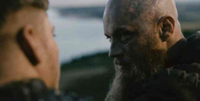 Ivar and Ragnar talk on Vikings