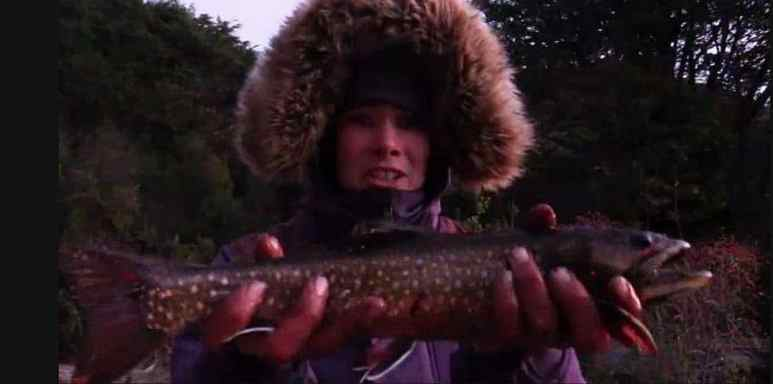 Carleigh with a fish on Alone