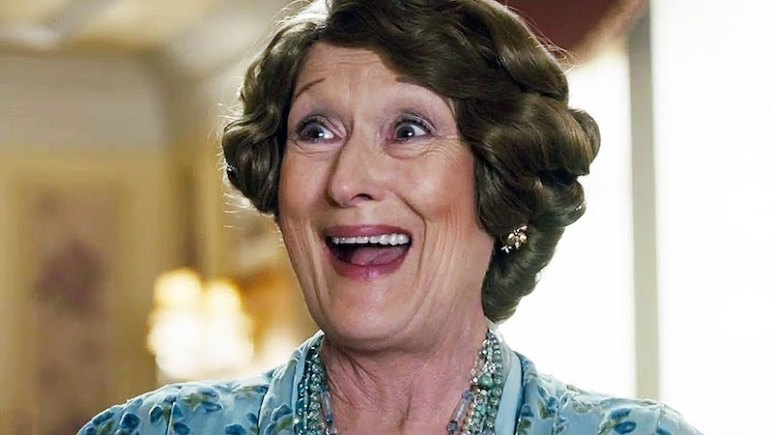 Meryl Streep as the titular character in the biographical comedy-drama Florence Foster Jenkins