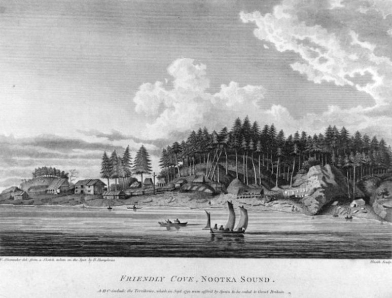 An image of Nootka Sound in or around 1791