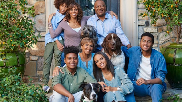 The Peetes and their dogs, who are back for Season 2 of For Peete's Sake on OWN
