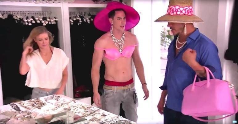 Tom goes lingerie shopping in Lisa Vanderpump's closet