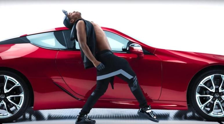 Lil Buck in the 2017 Super Bowl commercial for the Lexus LC 500 range