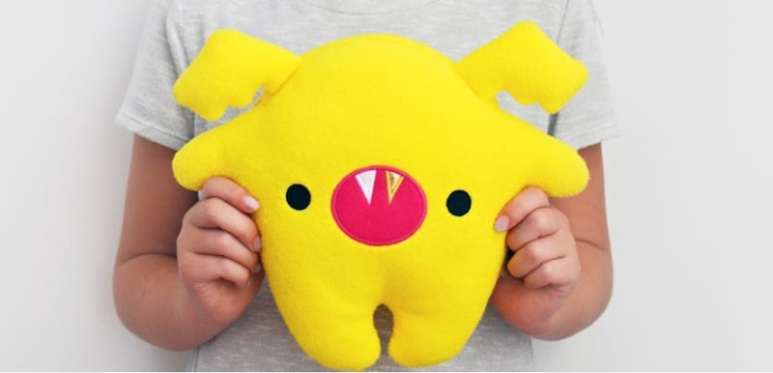 One of the Toymail plush animal Talkies