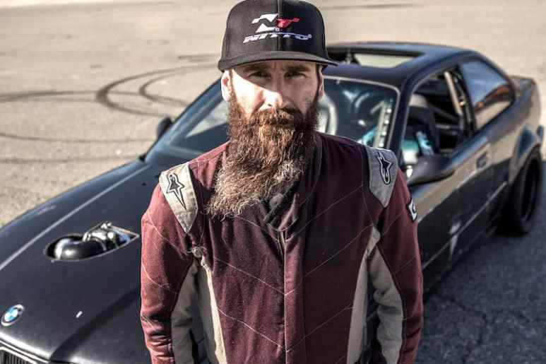 Aaron Kaufman and his car from the Fast N' Loud vs. Street Outlaws Mega Race