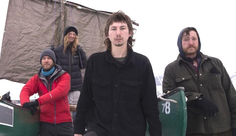 Parker Schnabel and the team he put together for his epic journey on the Klondike trail