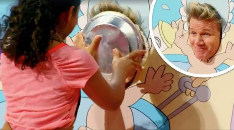 The moment Gordon Ramsay gets a pie in the face on MasterChef Junior